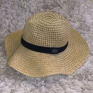NWT The North Face Sun Straw Hat, Black S/M